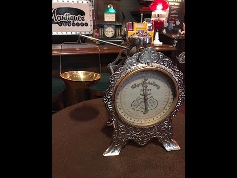 1800's German Hushallsvag Cast Iron Candy Scale SOLD