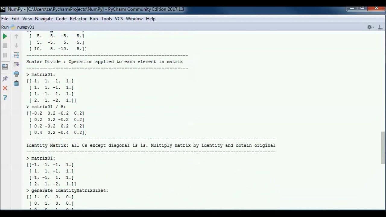Python NumPy (Tutorial 01) - Intro to Linear Algebra