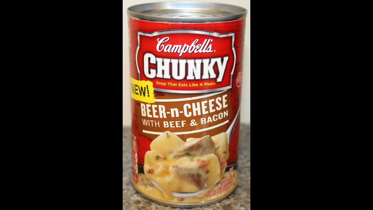 Campbell S Chunky Soup Beer N Cheese With Beef Amp Bacon