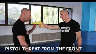 Krav Maga Technique of the Week: Pistol Threat from the Front with Amnon Darsa & Heath Leavitt