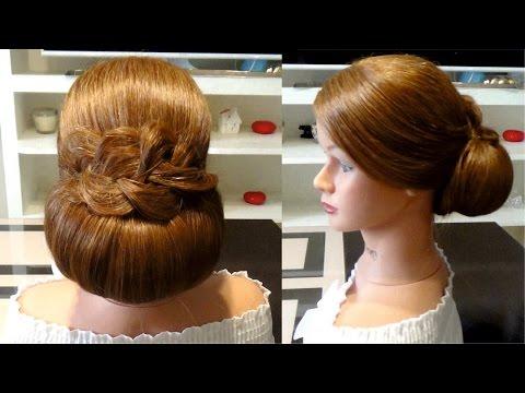 Простая прическа на выпускной на длинные волосы. Easy hairstyle