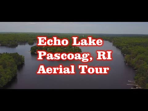 Echo Lake - Pascoag, RI - Aerial Tour