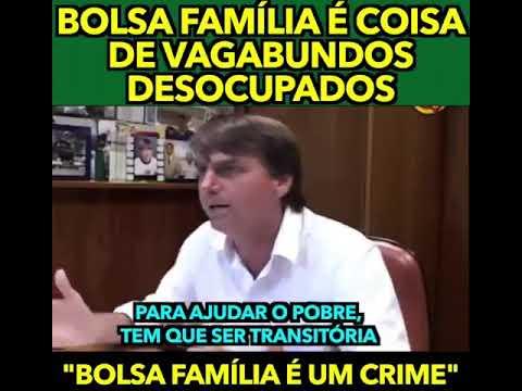 Jair bolsonaro contra o bolsa família - YouTube