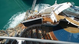 VERY CLOSE CALL - Allure of the Seas Docking in Jamaica - Near Crash