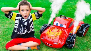 Artem and Mom playing with Broken toys | New Funny stories about toy cars