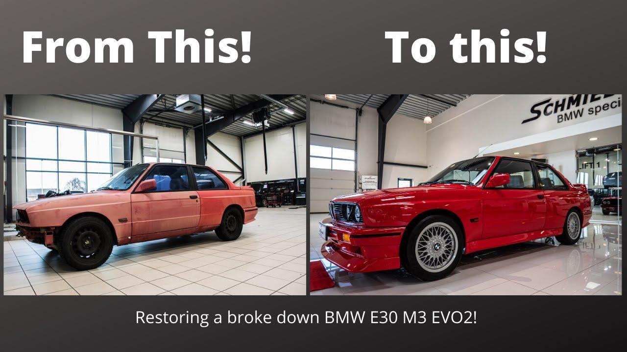 Цялата реставрация на едно  BMW E30 M3 EVO2 събрана в 9 минути! Гледайте!