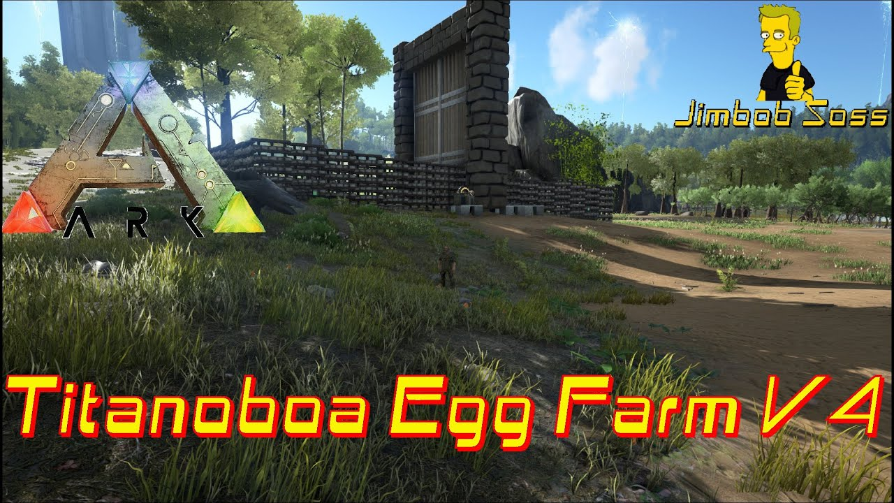 Ark survival evolved titanoboa egg farm v4 youtube malvernweather Image collections