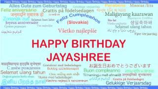 Jayashree   Languages Idiomas - Happy Birthday