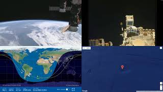 Daytime Radiation Effects Over South America NASA/ESA ISS LIVE Space Station With Map 26 2018-07-16