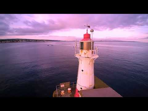 British Harbour Lights from the Air pt3  ( Newlyn Harbour )