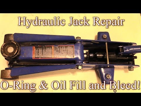 Hydraulic Jack O-ring Repair, Oil Fill & How To Bleed! Easy