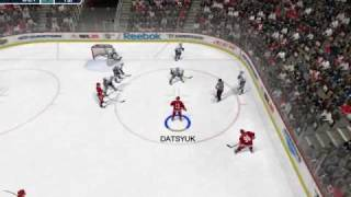 NHL 2009 on intel gma 4500m gameplay