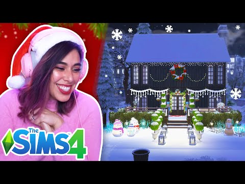 Sims 4 Holiday Build Challenge - Cozy Cabin