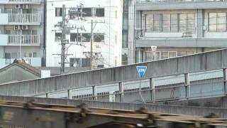 EF64形(JR貨物色)+コキ100形+コキ200形(警笛あり)