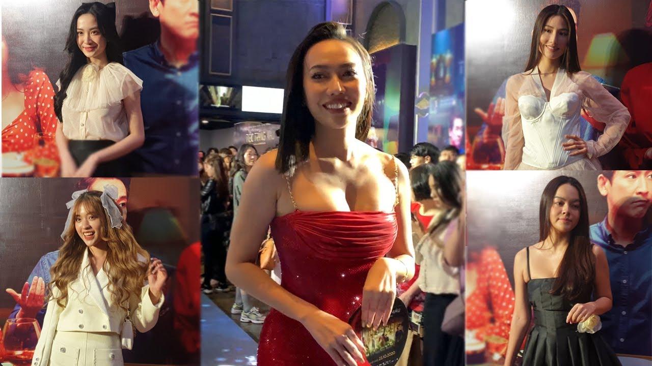 """Dàn """"MỸ NHÂN"""" showbiz Jun Vũ, Khả Như, Diệu Nhi, Hoàng Yến Chibi.. """"ĐỌ SẮC"""" ở thảm đỏ Tiệc Trăng Máu"""