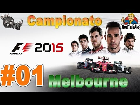 F1 2015 - Gameplay ITA - Logitech G27 - Campionato #01 - Melbourne