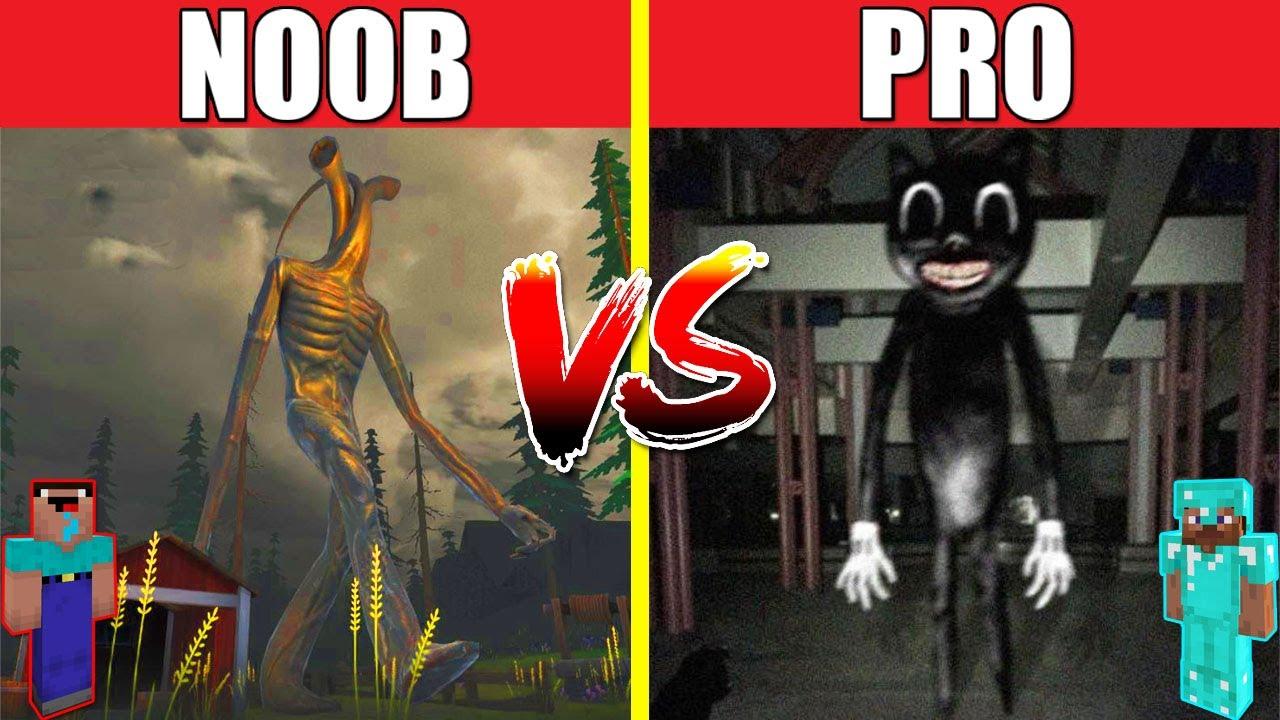 PIPE HEAD VS CARTOON CAT HOUSE BUILD CHALLENGE - NOOB vs PRO vs HACKER vs GOD / Minecraft Animation