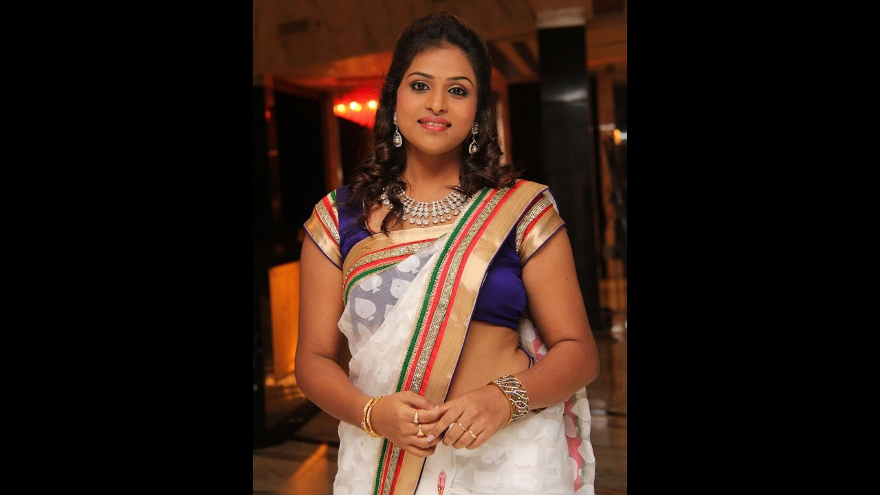 Tamil tv serial actress saree - YouTube