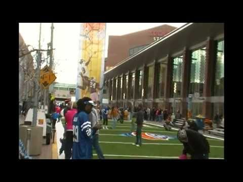 Super Bowl Village and the Colts Cheerleaders