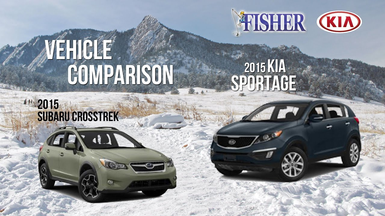 kia comparison 2015 kia sportage vs 2015 subaru crosstrek youtube. Black Bedroom Furniture Sets. Home Design Ideas