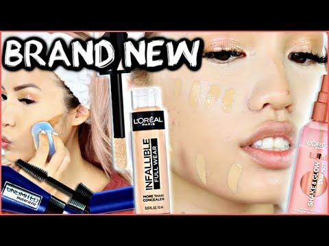 NEW L'OREAL RELEASES | INFALLIBLE FULL WEAR CONCEALER + LUMI GLOW MIST | WEAR TEST REVIEW