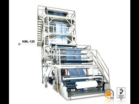 LDPE/LLDPE PLASTIC INFLATION MACHINE  MODEL : KML-120