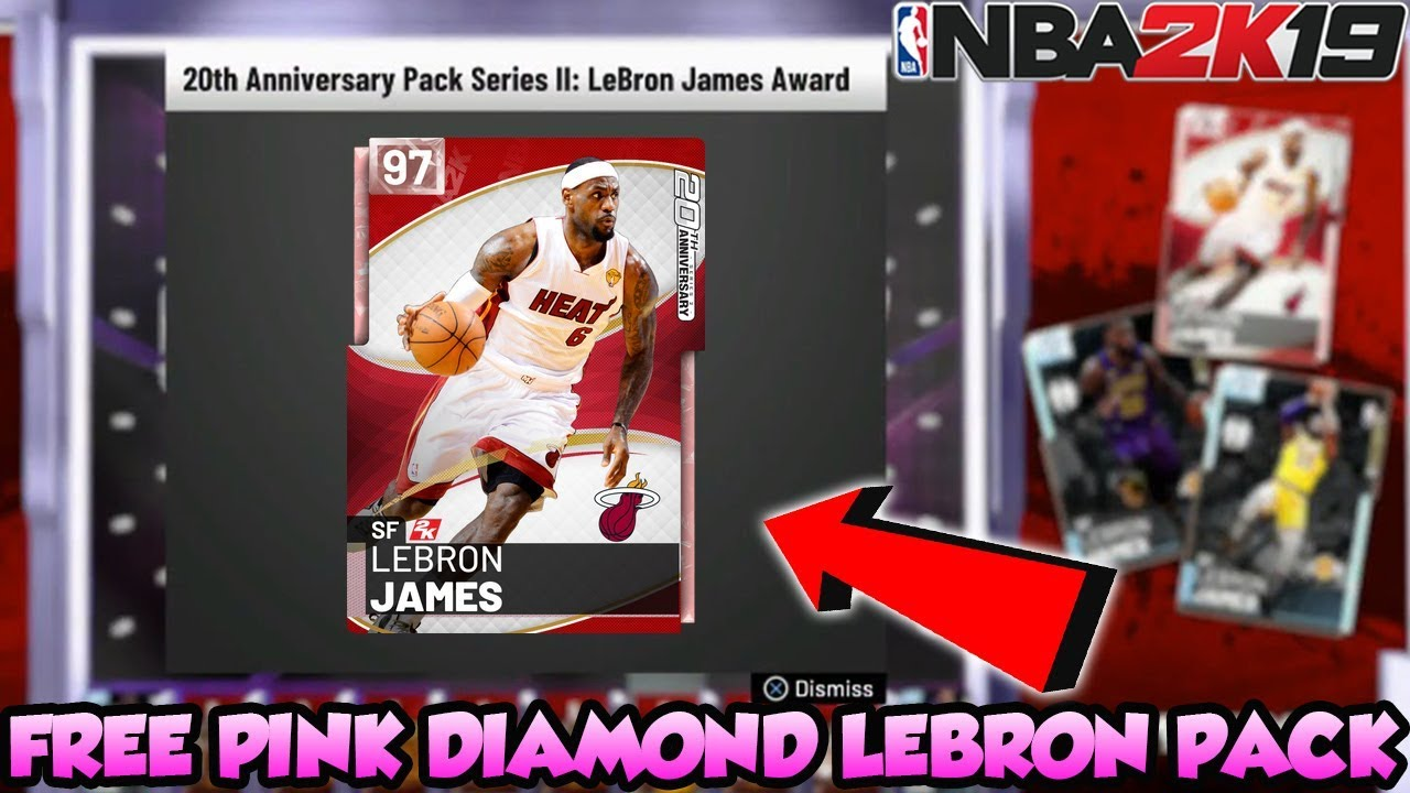 e43053de35cc NBA 2K19 FREE PINK DIAMOND LEBRON JAMES PACK LOCKER CODE AND FREE ...
