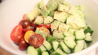Cucumber And Tomato Salad With Avocado