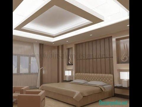 Latest pop false ceiling designs for bedroom 2019 youtube - Bedroom pop ceiling design photos ...
