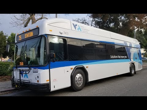 "2017 Gillig Advantage ""Beluga"" HEV - Santa Clara VTA Bus 7403 - Line 25"