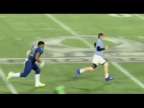 Ezekiel Elliott Tackles Fan Who Runs Onto Field During Pro Bowl