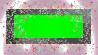 Animation 4K Tulipes Florish de Fleurs Autour de l'Écran Vert Effet AA VFX
