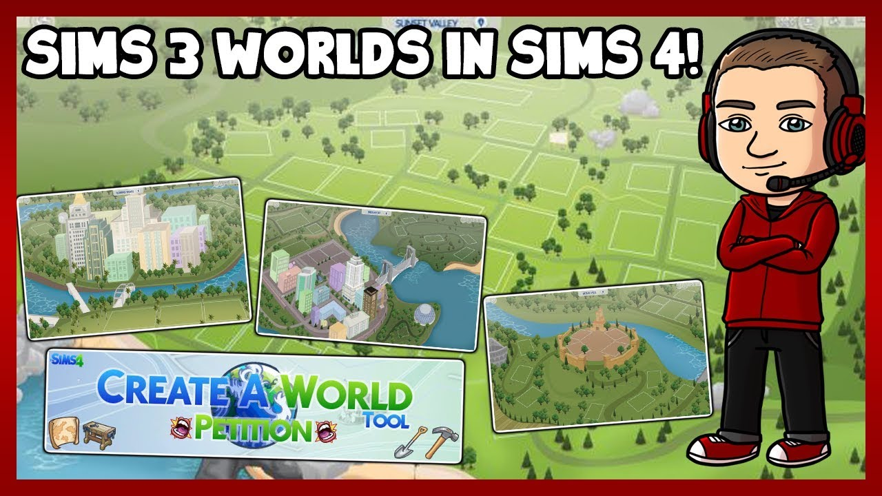 Sims 4 - Sims 3 Worlds in the Sims 4!
