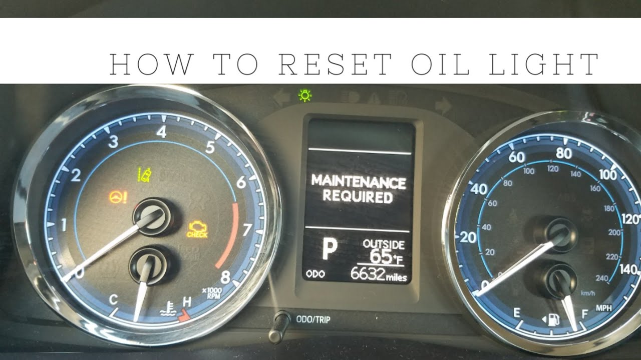 Toyota Corolla Maintenance Required Light >> How To Reset Maintenance Required Light On 2018 Toyota Corolla