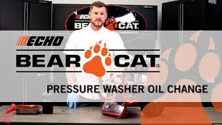 ECHO Bear Cat Pressure Washer Oil Change