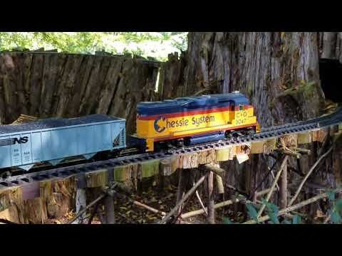 Cheekwood botanical gardens in Nashville Tennessee . Outdoor model railroad  train set. 09/27/2017.