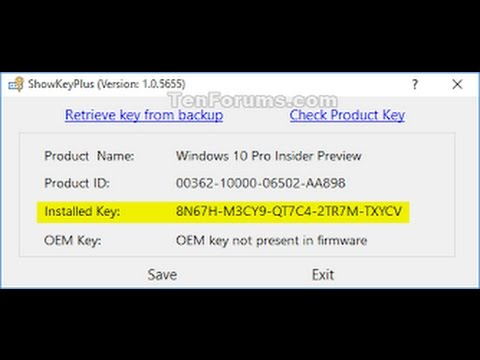 windows 10 insider preview product key