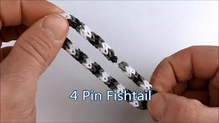 Rainbow Loom- How to make an Inverted Candy Cane Bracelet (Variation of the Inverted Fishtail)