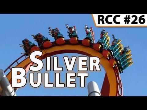 Silver Bullet Roller Coaster -- Front Row POV @ Knott's Berry Farm