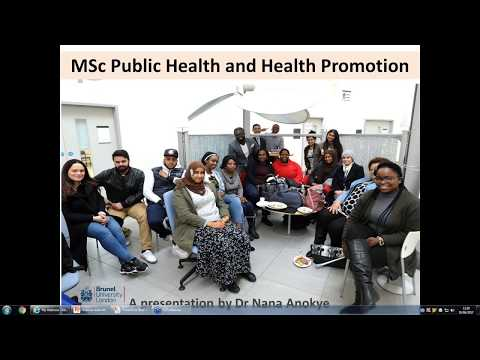 Public Health and Health Promotion MSc Webinar | Tuesday 23 May 2017