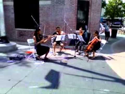 String quartet in Ciccarone Park, Belmont, Bronx