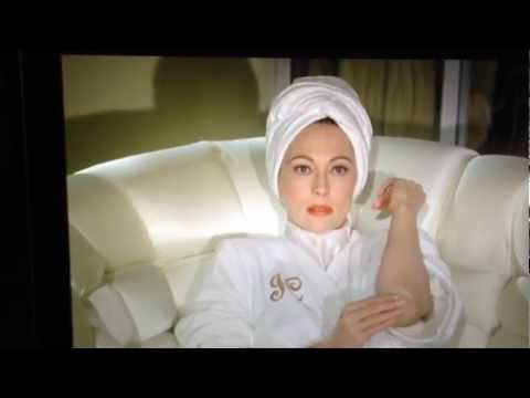 Mommie Dearest lotion on elbows scene