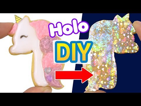 HOLO UNICORN DIY!! How to make Holographic polymer clay resin Unicorn 5 minute craft