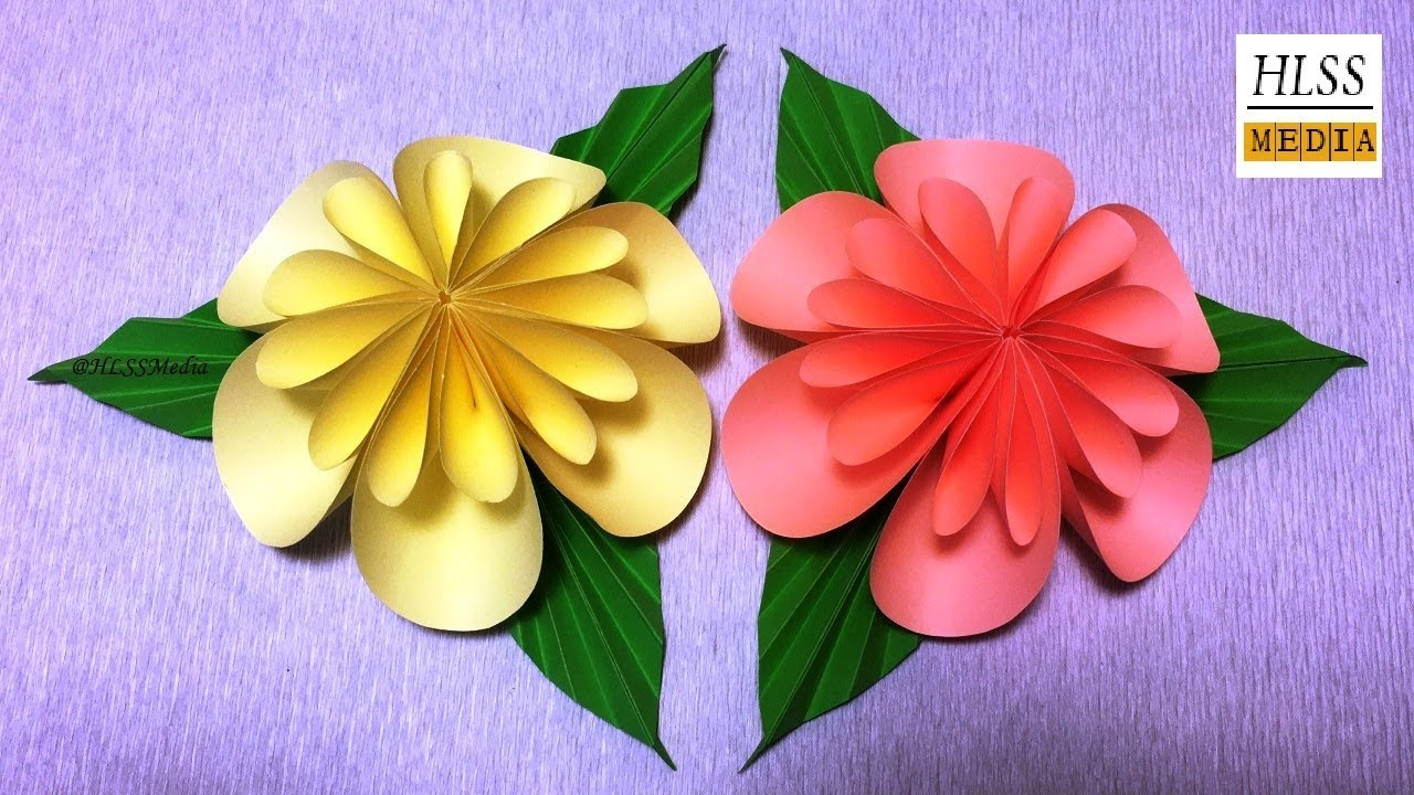 How To Make An Easy Origami Paper Flower For Kids Paper Crafts