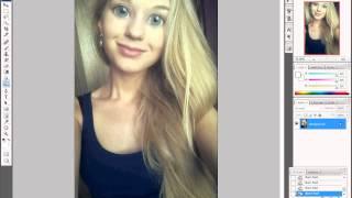 Как сделать большие глаза в фотошопе(В этом видео вы узнаете, как сделать большие глаза, такие как в паблика в ВК и др., 2013-08-31T18:35:27.000Z)