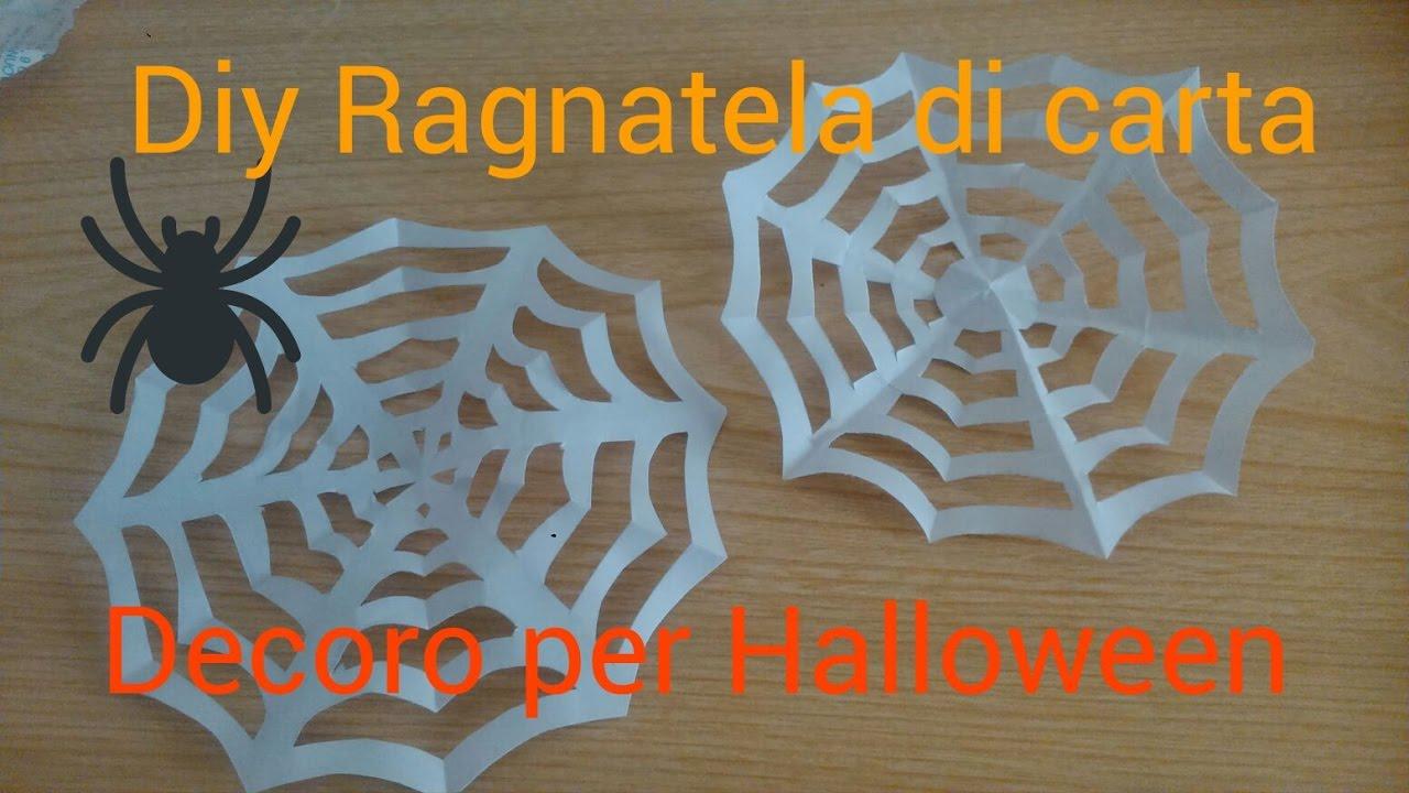 Diy Ragnatela di carta- Decoro per Halloween - YouTube ced5402d3541