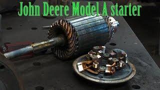 John Deere Model A tractor starter rebuild