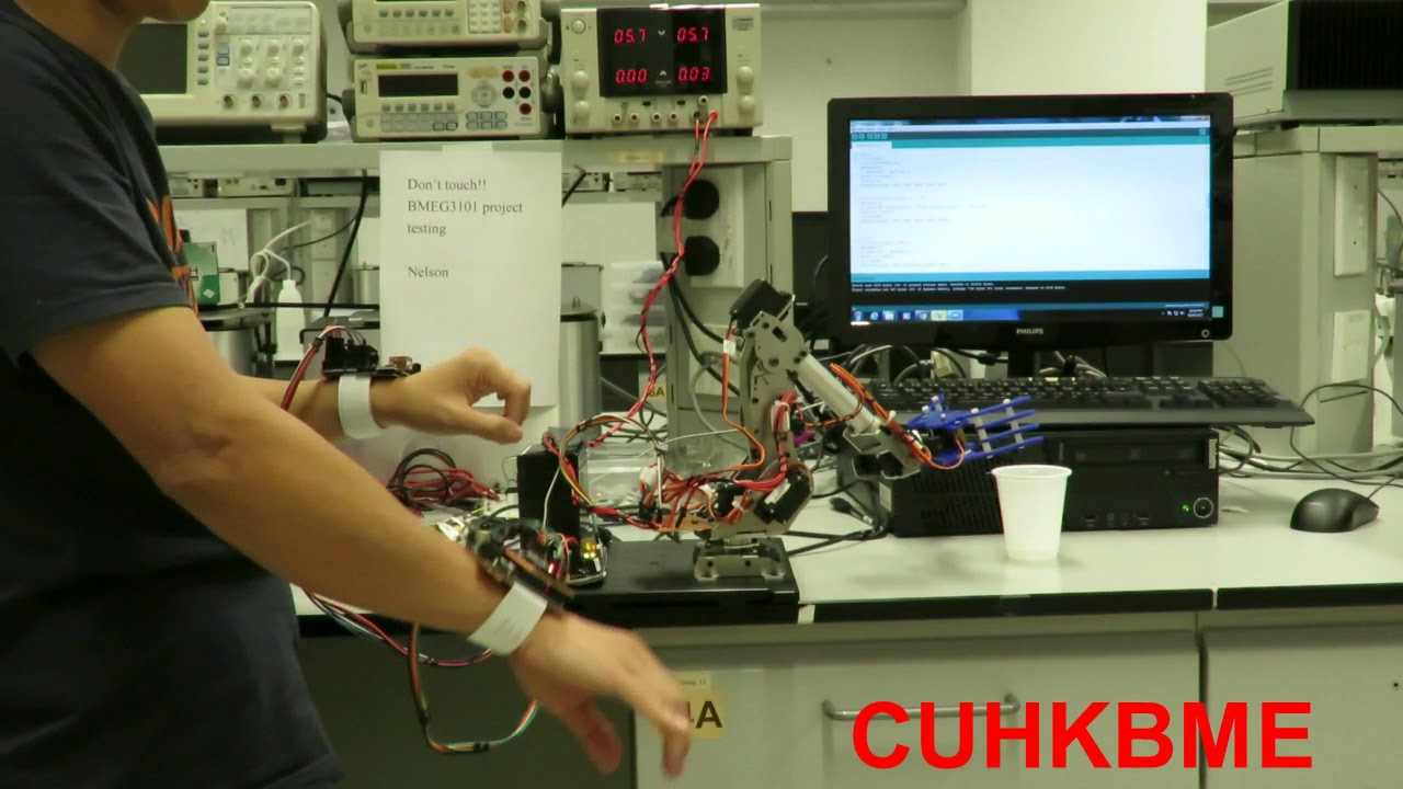 CUHKBME -- BMEG3101(2017) Robot Arm Controlled by Accelerometer