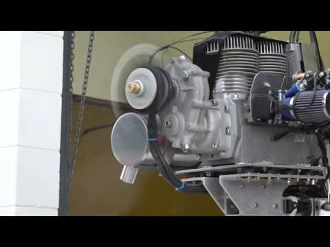 Excalibur Aircraft - Naresh breaks in his new Hirth engine