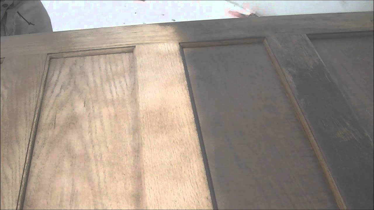 Soda Blasting Smoke And Fire Damage From An Interior Oak Door 3